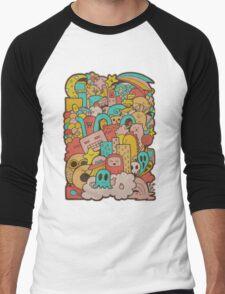 Doodleicious Men's Baseball ¾ T-Shirt