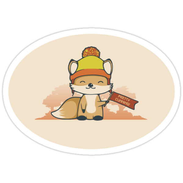Pretty Cunning Sticker by perdita00