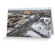 Aerial view of the city Greeting Card