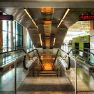 Fiumicino Airport Escalator by Yhun Suarez