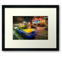 Hollywood Taxi Framed Print
