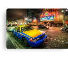 Hollywood Taxi Canvas Print
