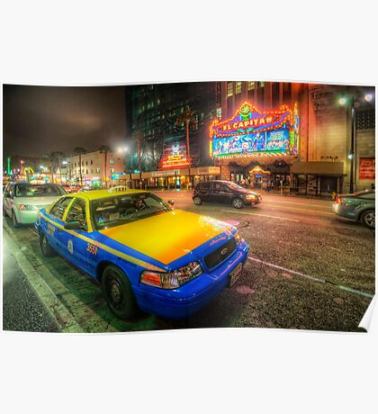 Hollywood Taxi Poster