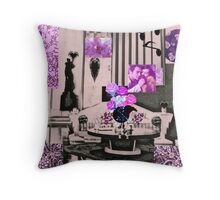 Black and Pink Romance Throw Pillow
