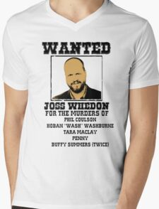 Joss Whedon: wanted Mens V-Neck T-Shirt