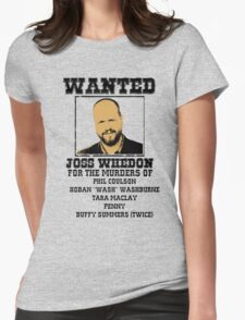 Joss Whedon: wanted Womens Fitted T-Shirt