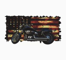 Cool Union Flag, Stars and Stripes, Motorcycle One Piece - Short Sleeve