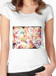 Colorful Psychedelic Art  Women's Fitted Scoop T-Shirt