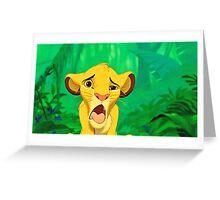 Simba Greeting Card