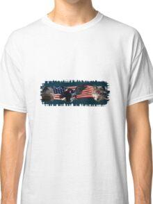 Eagles, Bear, Wolf, American Flag US Patriotic Classic T-Shirt