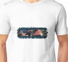 Eagles, Bear, Wolf, American Flag US Patriotic Unisex T-Shirt