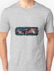 Eagles, Bear, Wolf, American Flag US Patriotic T-Shirt
