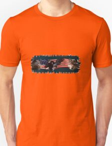 Eagles, Bear, Wolf, American Flag US Patriotic T-Shirt