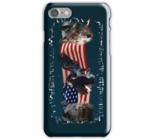 Eagles, Bear, Wolf, American Flag US Patriotic iPhone Case/Skin