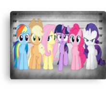 Mane 6 Line Up  Canvas Print
