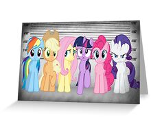 Mane 6 Line Up  Greeting Card