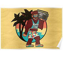 Bigfoot on Vacation Poster