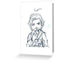 Aramis Sketch Version Greeting Card