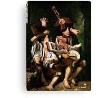 The Violin Lesson. Canvas Print