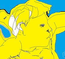 Male Nude/Peter Pan -(310313)- Digital art/MS Paint by paulramnora