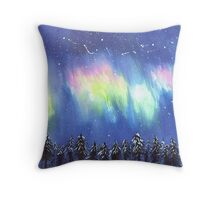 We Called Them the Northern Lights  Throw Pillow