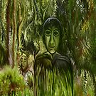 Figure in the Forest iPad Case by rafi talby by RAFI TALBY