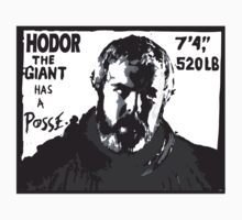 Hodor the giant has a posse. Game of thrones.  Kids Clothes