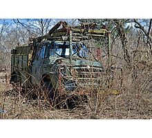 old military vehicle? Photographic Print