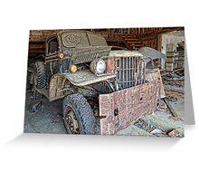 old dodge truck3 Greeting Card