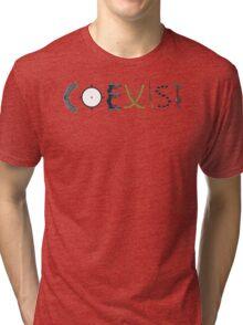 coexist with guns Tri-blend T-Shirt