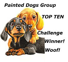 Painted Dogs Top Ten banner No.2 Photographic Print