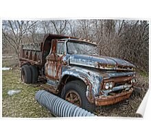 old Ford dump truck Poster