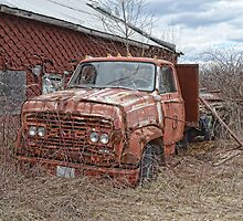 old GMC truck by Kathleen Small Wilkie