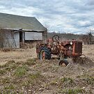 old farm tractor by Kathleen Small Wilkie