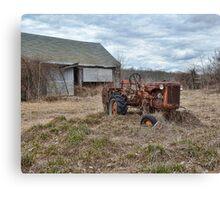 old farm tractor Canvas Print