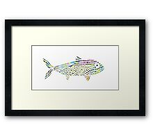 Patterned Papercut Fish Framed Print