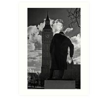 Churchill & Big Ben Art Print