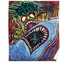 Zombie Shark Fight Poster