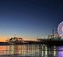 Santa Monica Pier Sunset  by JimSchneider