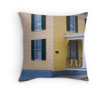 Yellow House Throw Pillow