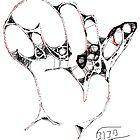 Hand I -(310313)- Digital art/mouse drawn/Program: MS Paint by paulramnora