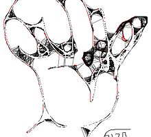 Hand I -(310313)- Digital art/mouse drawn/Program: MS Paint by paulramnora
