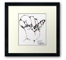 Hand I -(310313)- Digital art/mouse drawn/Program: MS Paint Framed Print
