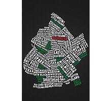 Brooklyn New York Typography Map Photographic Print