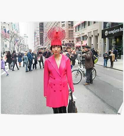 Colorful Hat, Easter Day Parade, New York City, March 31, 2013 Poster