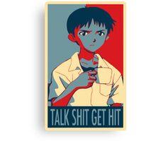 Shinji Ikari - Talk Shit Get Hit Canvas Print