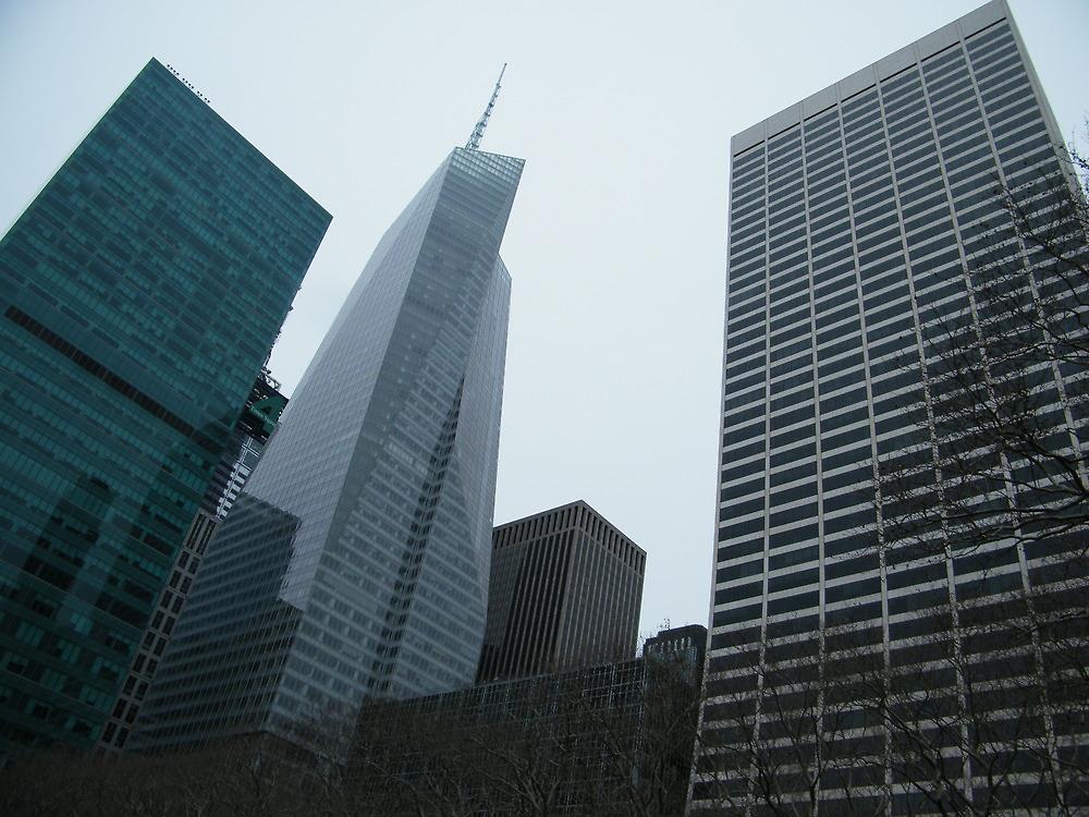 Skyscrapers Surrounding Bryant Park, New York City by lenspiro