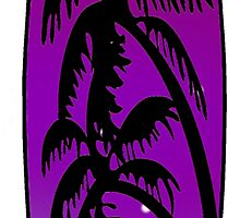 Surfboard Palm Trees (Purple) by surreal77