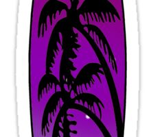 Surfboard Palm Trees (Purple) Sticker