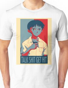 Shinji Ikari - Talk Shit Get Hit Unisex T-Shirt